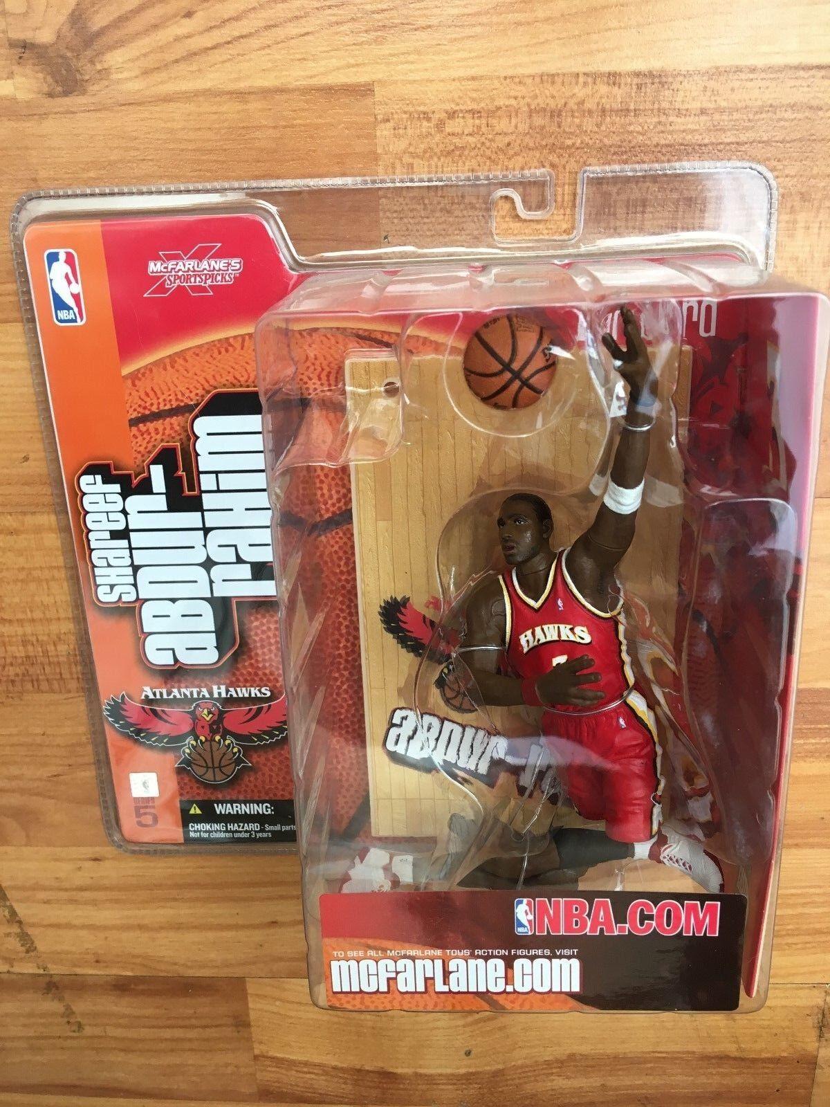 BNIB MCFARLANE BASKETBALL NBA SERIES 5 FIGURE SHAREER ABDUR-RAHIM RED HAWKS