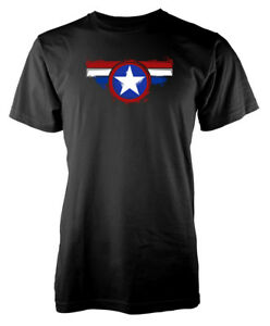 Captain America Shield Star Hero Adulte T Shirt-afficher Le Titre D'origine