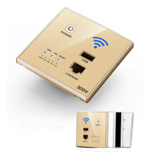 300M In-Wall Socket AP Access Point Wireless WiFi Router USB-charging Socket