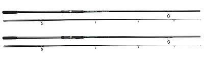 2 X Okuma G-force All Black Specimen Carp Rods 12ft 3lb T/C  2PC Fishing NEW