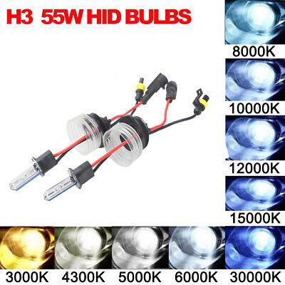 1 pr H3 HID Globes 35W to 55W 4300K or 6000K or 8000K or 10000K