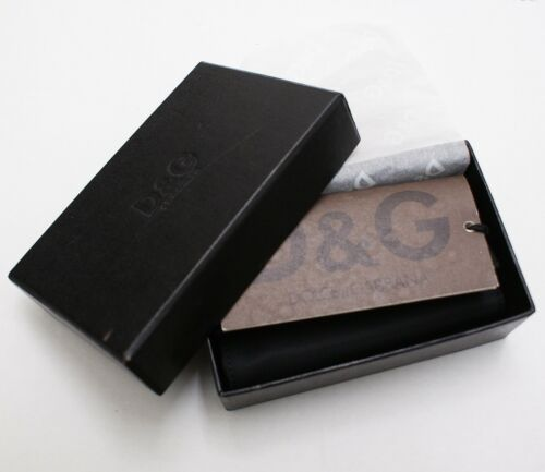 New Dolce /& Gabbana D/&G Black Key Holder Wallet New in Box Rare