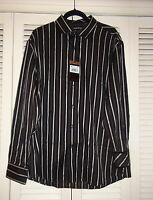 Mens Zagiri Kms-2161 My Name Is Jonas Black Striped Shirt $145 Xl 2xl 3xl