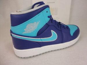 f25a3d8d3d1 Image is loading Nike-Air-Jordan-1-Mid-Hornets-Court-Purple-