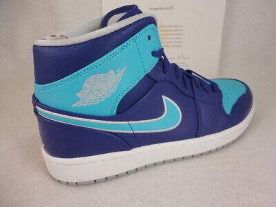 on sale 1c86e 33d6d Nike Air Jordan 1 Mid Sz 10 Court Purple Metallic Platinum Blue DS OG