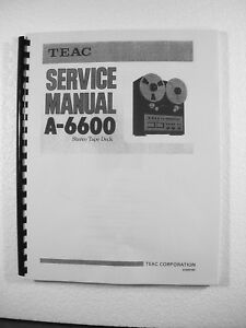 teac a 6600 reel tape recorder service manual