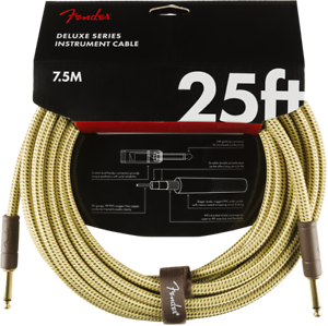 Fender-Deluxe-TWEED-Electric-Guitar-Instrument-Cable-Straight-Ends-25-039-ft