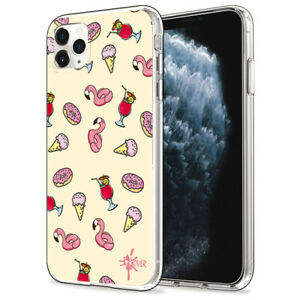 Dettagli su Custodia Cover Morbida INKOVER per iPhone Summer 5 Cocktail Ice Cream Donut Art