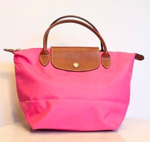 9a3369cbc79 Longchamp Le Pliage Small Shopper Tote Bag in Pink. Made in France ...