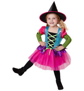 Girls-Kids-Childs-Witch-Halloween-Fancy-Dress-Costume-Outfit-4-5-Yrs