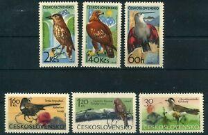 Tschechoslowakei-MiNr-1568-73-postfrisch-MNH-Voegel-Voeg891