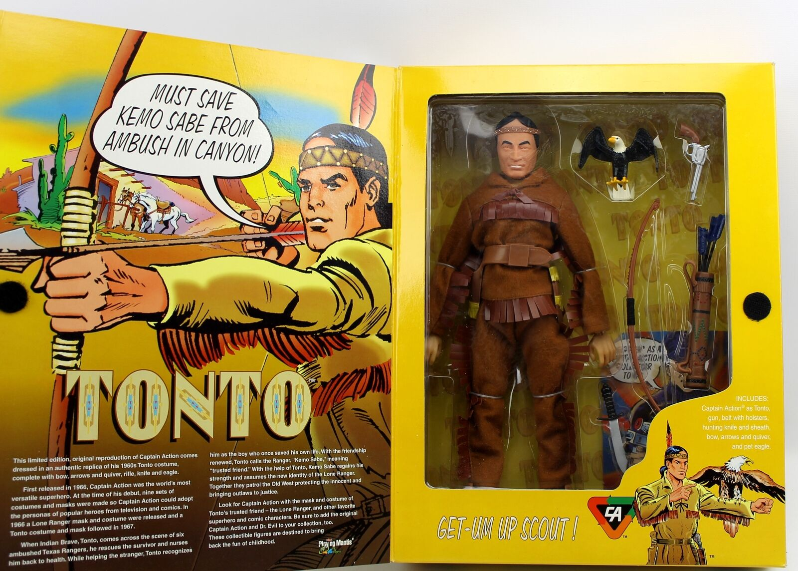 Captain Action as TONTO Action Figure Hero Series Playing Mantis 1998