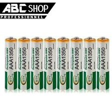 LOT 8 PILES ACCUS RECHARGEABLE AAA BTY NI-MH 1350mAh 1.2V LR03 LR3 R03 R3 ACCU