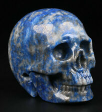 Lapis Lazuli Carved Crystal Skull. 116g / 5.2cms