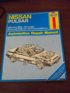 nissan pulsar repair manual 1983 1984 1985 1986 all models guide rh ebay com Chilton Manuals Repair Manuals Yale Forklift