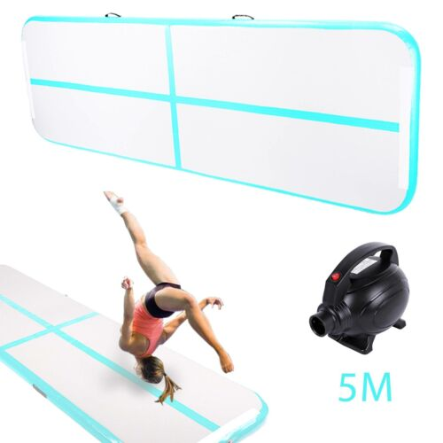 5M Tumbling Air Gymnastikmatte Track Aufblasbare Matte Turnmatte Pumpe