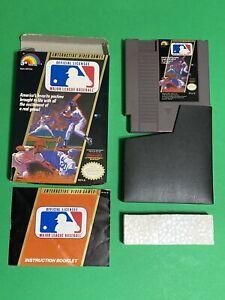 ORIGINAL-NINTENDO-NES-100-COMPLETE-IN-BOX-MLB-MAJOR-LEAGUE-BASEBALL