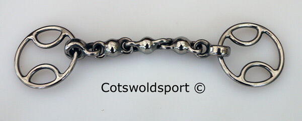 CS Waterford Beval Bevel Snaffle Bit Wilkie  SMALL Ring 5.5  14cm