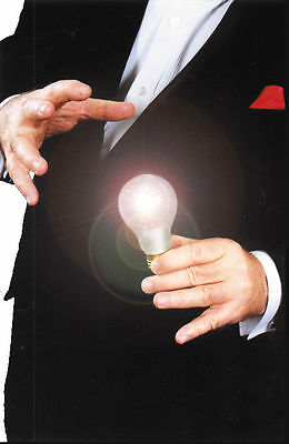 Magic Light Bulb Addams Family Uncle Fester Trick Costume Joke LED Magician