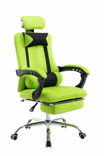 Bürostuhl grün Fußablage Chefsessel Zocker Gamer Gaming günstig stabil belastbar