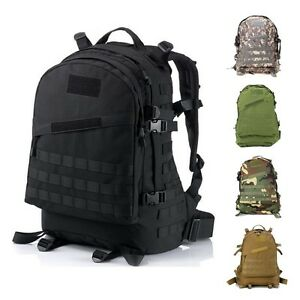 40L 3D Outdoor Tactical Military Backpack Rucksack Trekking Hiking ...