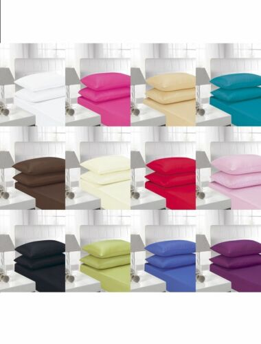 T300 100/% Egyptian Cotton Sateen Fitted//Extra Fitted Bed Sheets Premium Quality