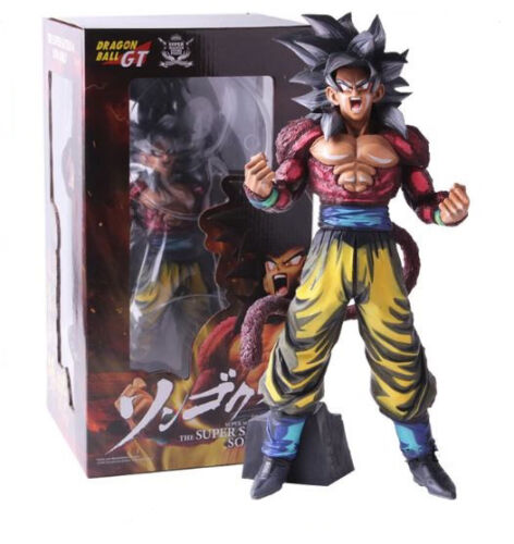 32 cm. DRAGON BALL GT Figura Goku Super Saiyan 4 Master Stars Piece 3 colores