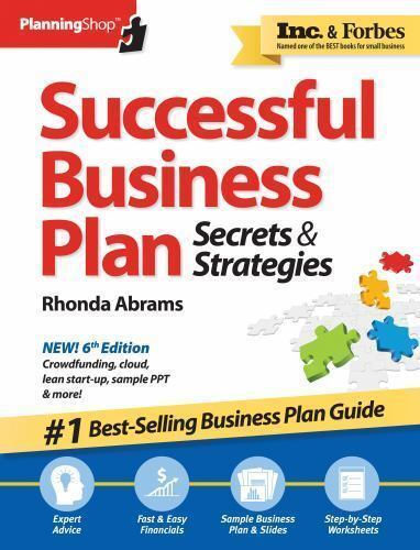 Successful Business Plan Secrets And Strategies By Rhonda Abrams 2014 Paperback For Sale Online Ebay