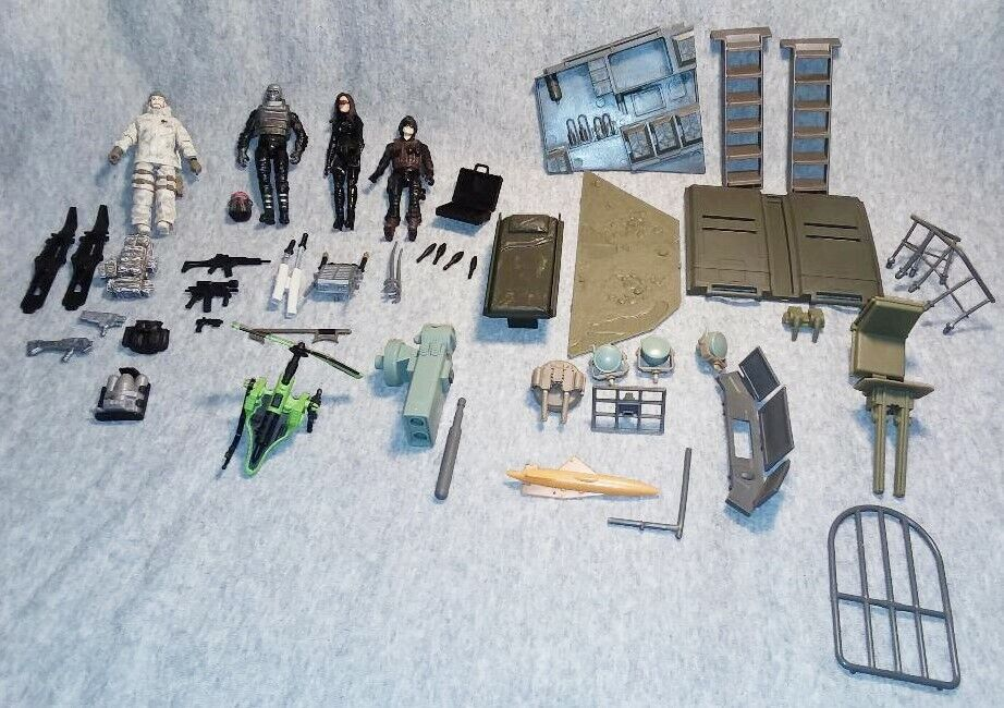 G.I. GI Joe Action Figure Mixed Lot Cobra Vehicle accessory Parts