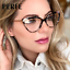 Women-039-s-TR90-Clear-Lens-Optical-Glasses-Cats-Eye-Style-Myopia-Glasses-Frames thumbnail 1