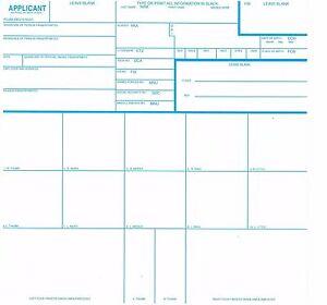 Details about 50 FD-258 FBI Fingerprint Cards - Applicants / Background