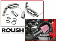 11-14 Mustang GT 5.0 Roush Cold Air Intake Kit & Axle Back Muffler Exhaust Combo
