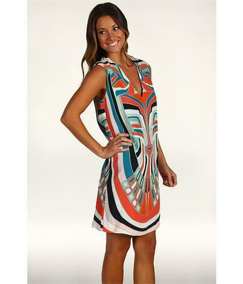 NICOLE MILLER MULTICOLOR SUMMER LACUNA DRESS SAMPLE SIZE (SMALL) BL0417