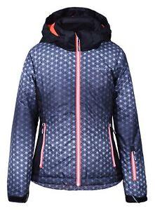 Original- schön und charmant Sonderteil Details zu Icepeak Mädchen Skijacke HERMIA Jr. 50054-811 schwarz/pink /  Winterjacke
