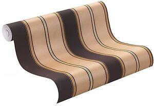 tapeten rasch vliestapeten trianon 2015 streifen schwarz braun 513189 3 08 1qm ebay. Black Bedroom Furniture Sets. Home Design Ideas