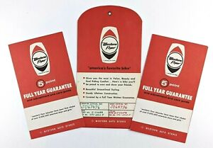 1967 Western Flyer Auto Stores Bicycle 5 Point Guarantee Pamphlet Envelope Lot
