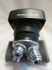 Vintage Bausch Amp Lomb Compound Microscope Head 4 Objectives