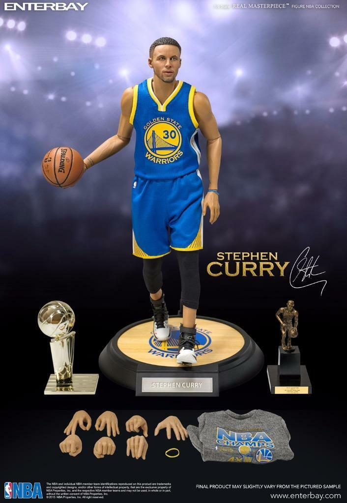 Enterbay Masterpiece NBA Stephen Curry Figure 1 6 golden State RM-1066 1 6 MVP