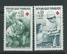FRANCE 1966 RED CROSS FUND SG 1733-34 SET 2 MNH.