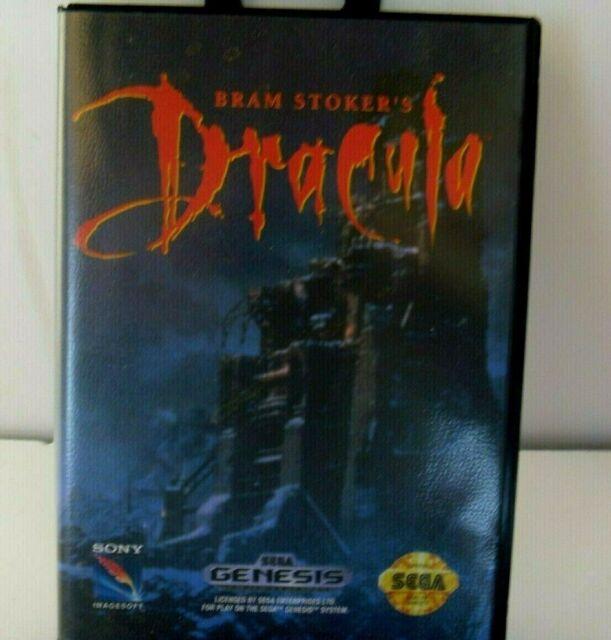 BRAM STOKER'S  DRACULA  GAME  W/ CASE   (SEGA GENESIS 1993)