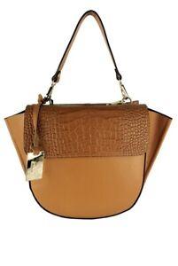 Women Leather Crossbody Handbag /Crocodile/Mad