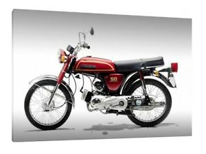 1976 Suzuki AP50 E 30x20 Inch Canvas Framed Picture Poster Print Art
