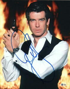 PIERCE-BROSNAN-SIGNED-AUTOGRAPH-11x14-PHOTO-JAMES-BOND-007-GOLDENEYE-BECKETT