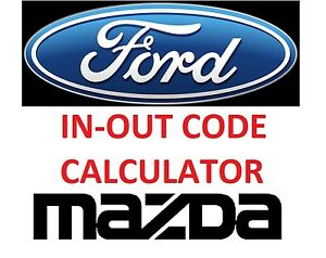 Details about FORD MAZDA Incode - Outcode Calculator No Token Limitation  and HDS CALCULATOR