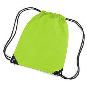Lime Coulisse / Tote / Zaino / Pe / Palestra / Nuoto / Scuola Borsa-e/backpack/pe/gym/swim/school Bag It-it Garanzia Al 100%