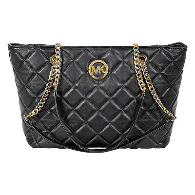 Michael Kors Fulton Large Quilted Tote in Black