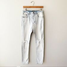 ZANEROBE Men/'s Blonde Rip Low Blow Slouchy Slim Fit Jeans Sz 34 NWT
