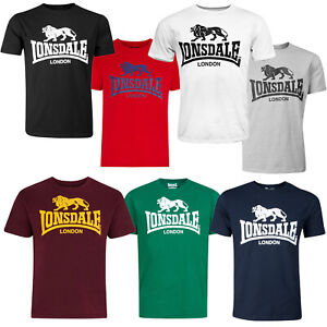 Lonsdale-Classic-Logo-Lion-T-Shirt-Black-Grey-Blue-Oxblood-White-Red-Green