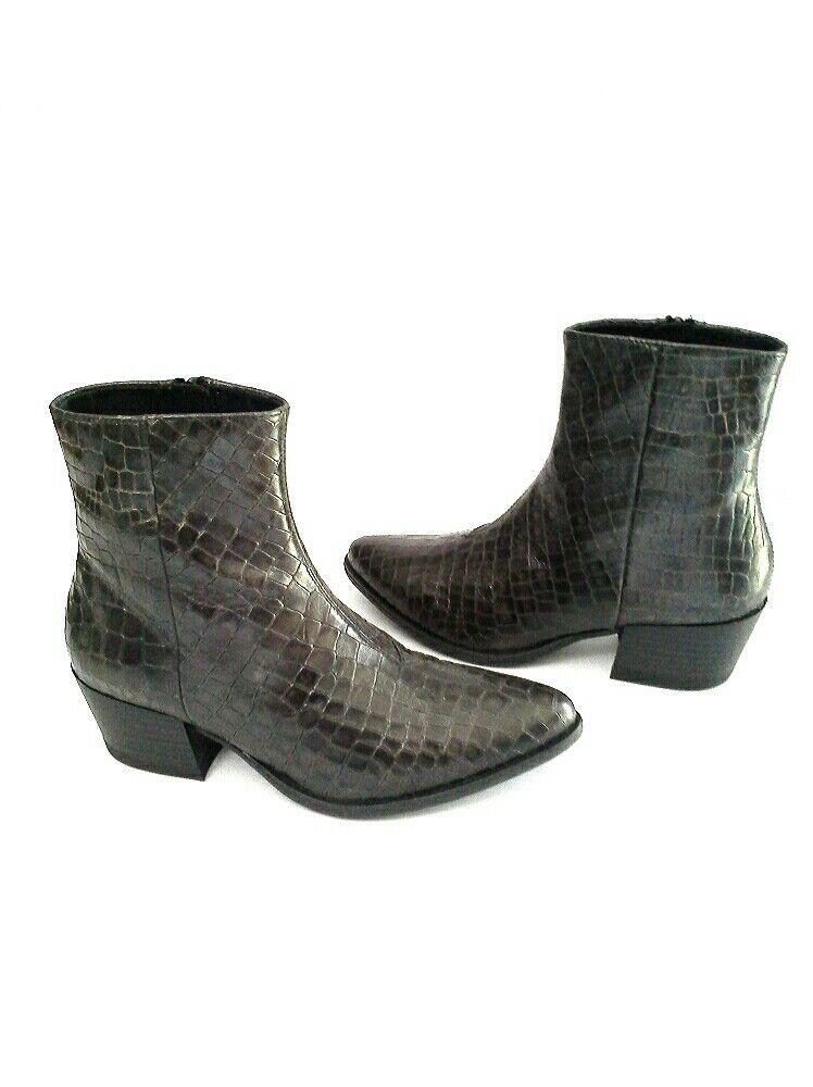 Vagabond Marja Croc Embossed Ankle Stiefel braun Leather 6.5  37 SLEEK  178