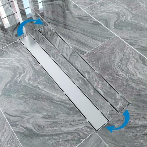 Duschrinne aus 304 Edelstahl Bodenablauf Duschabflussrinne mit Siphon und Haarsi